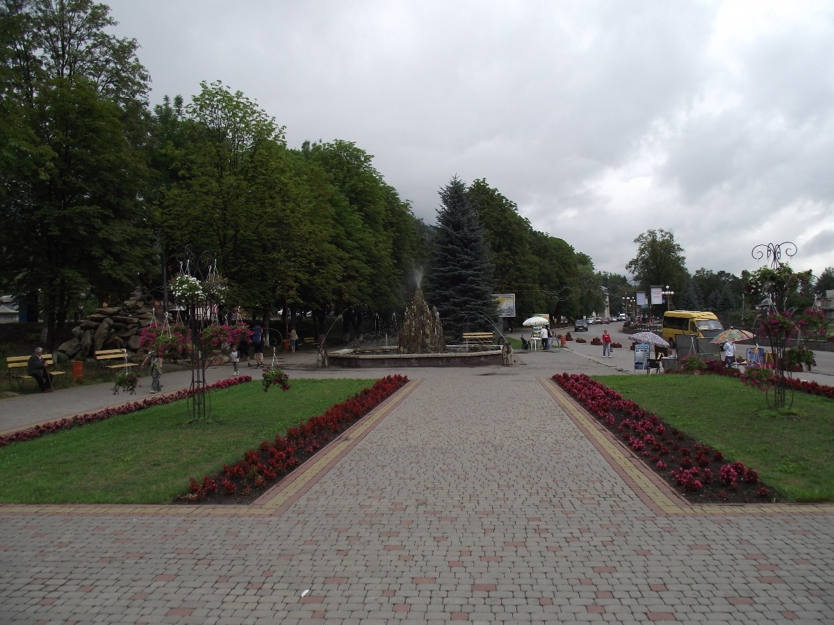 Central square in Yaremche