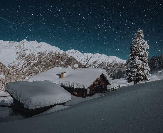 Snowy winter in Carpathian mountains