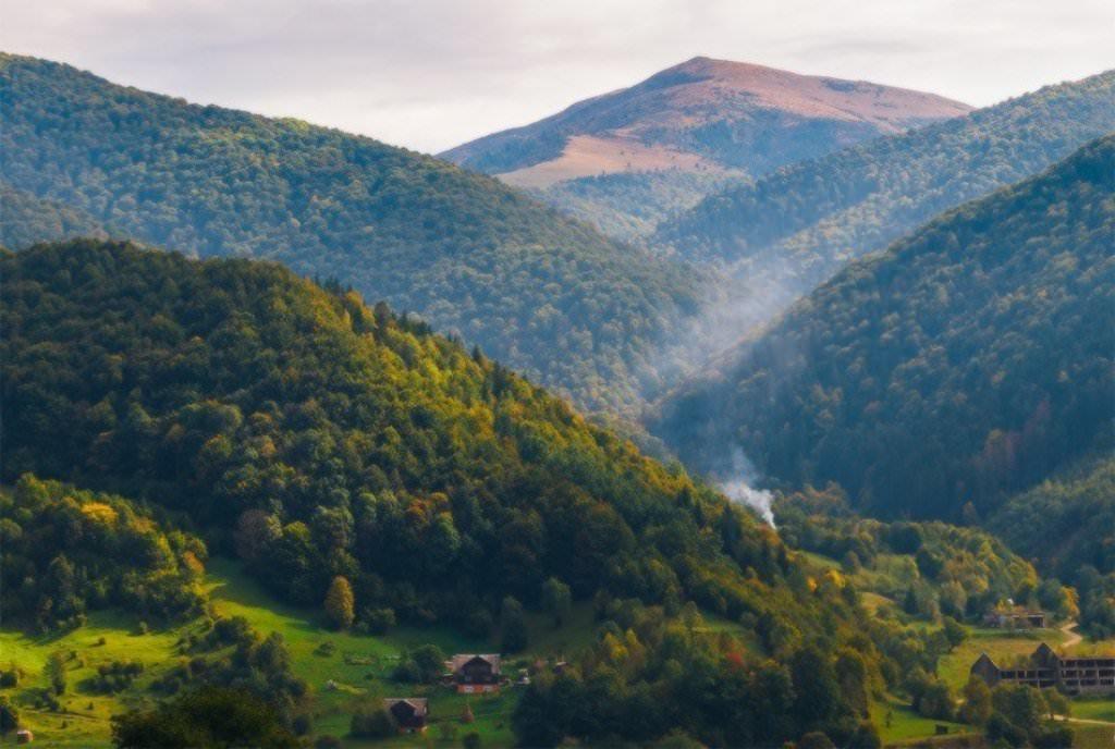 карпатский хутор летом