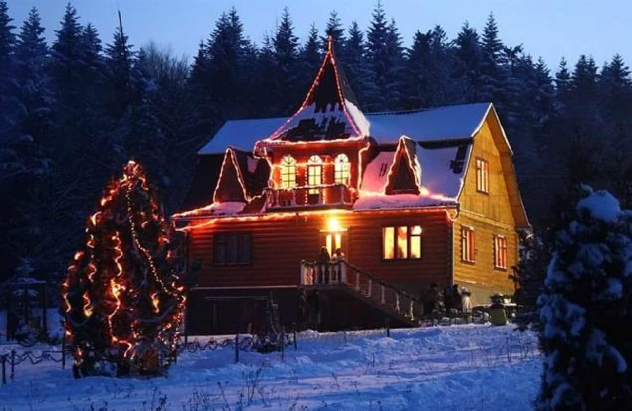 Дом Святого Николая на Рождество