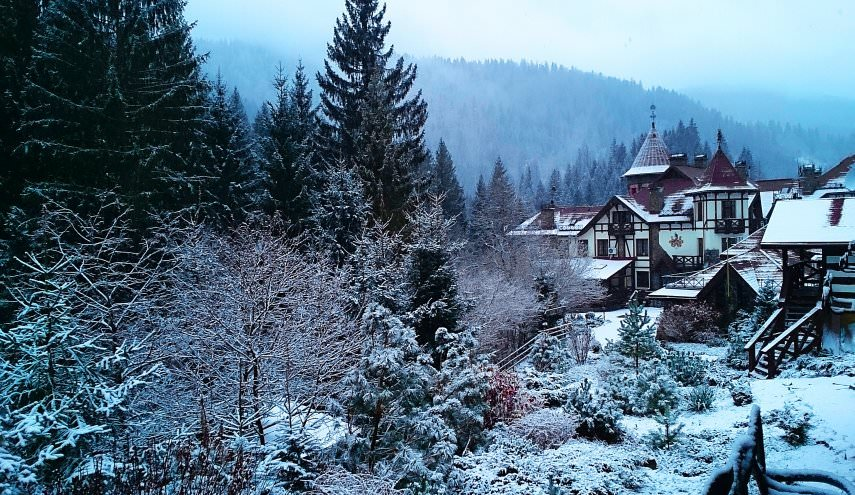 Зимний пейзаж в Карпатах