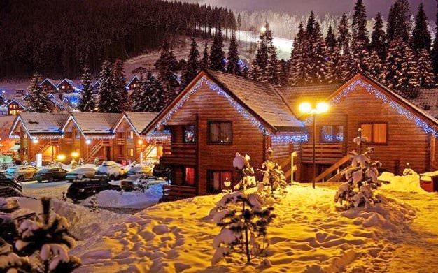 зимний вечер на Рождество