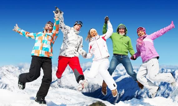 Зимняя одежда лыжников
