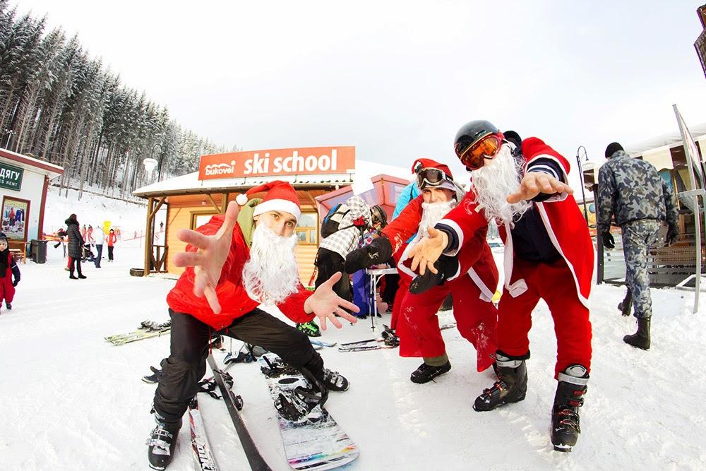 Международный фестиваль Дедов Морозов в Карпатах