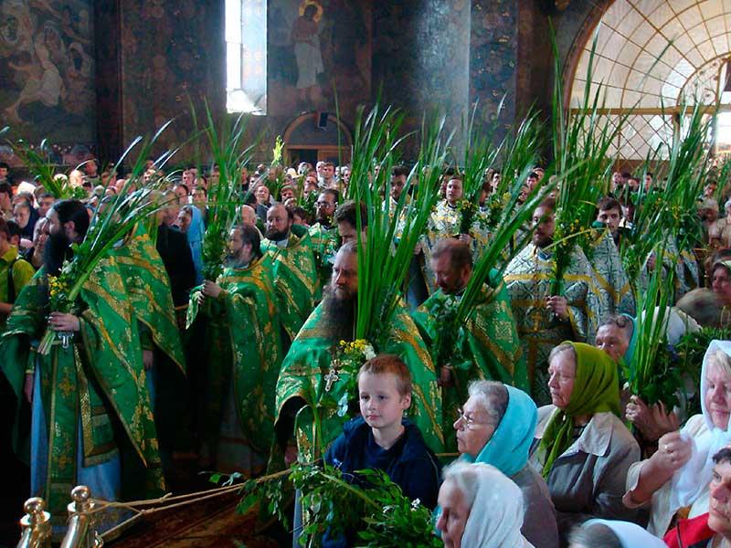 В Святой праздник Троицы дома украшают ветками, освященными в храме