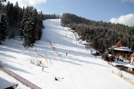 Лыжная трасса в Карпатах