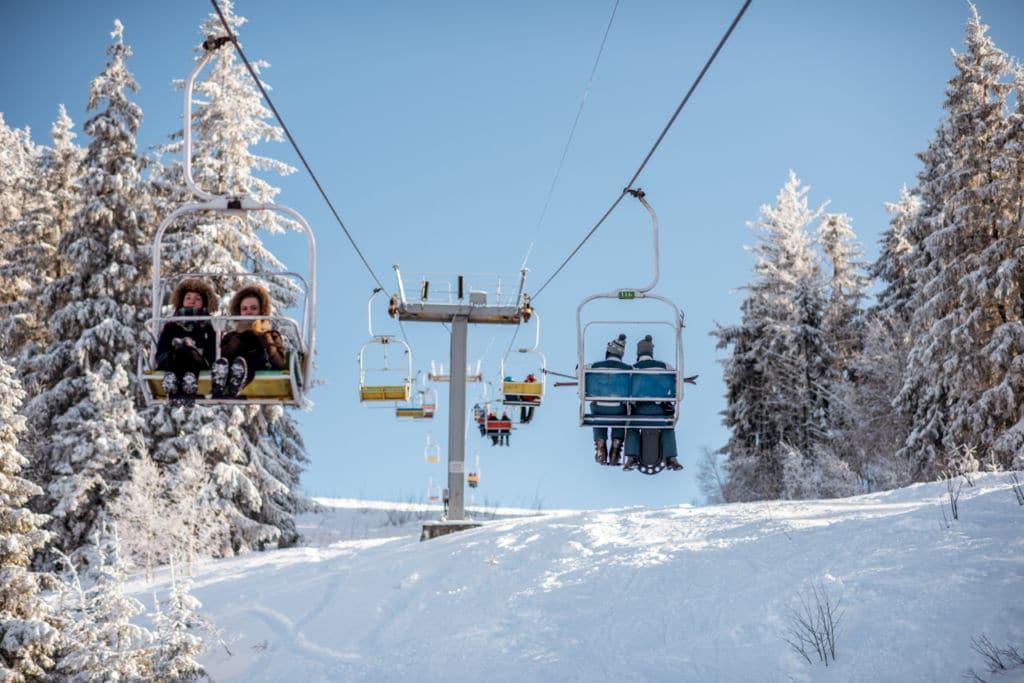 Лыжный спуск в Татарове